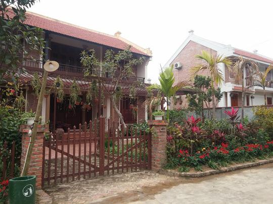 Một trong những ngôi nhà ở Điền viên thôn - Ảnh: Nguyễn Quyết