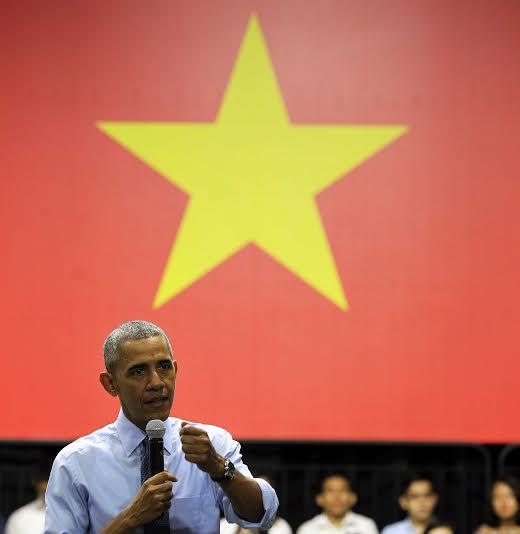 Tổng thống Mỹ rất cảm kích và sự đón tiếp và hiếu khách của Việt Nam. Ảnh: Hoàng Triều