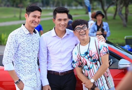 Công Vinh, Thành Lộc và Huy Khánh trong 1 cảnh quay