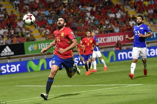 Diego Costa trở lại mạnh mẽ ở tuyển Tây Ban Nha
