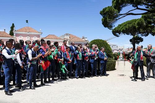Đội tuyển BĐN được Tổng thống Marcelo Rebelo de Sousa tiếp đón tại Cung điện Belem