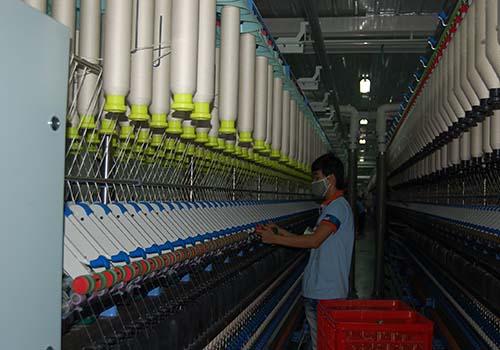 Dây chuyền kéo sợi hiện đại của Công ty Thiên Nam