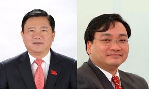 Ông Đình La Thăng (trái) và Hoàng Trung Hải vẫn là thành viên Chính phủ
