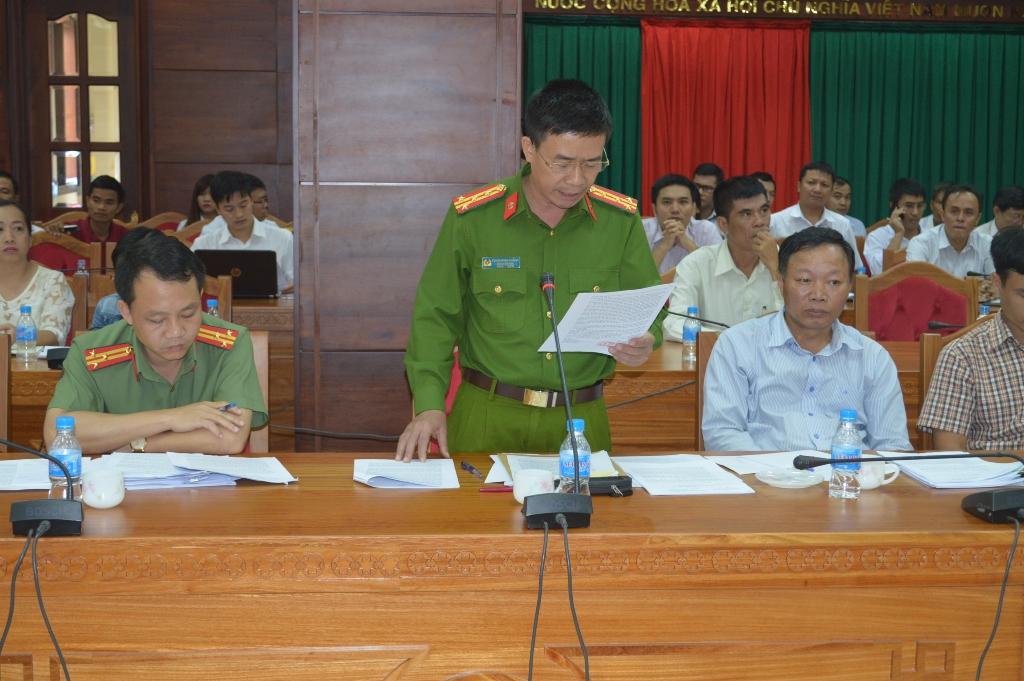 Đại tá Phạm Minh Thắng thông báo kết quả xác minh vụ việc