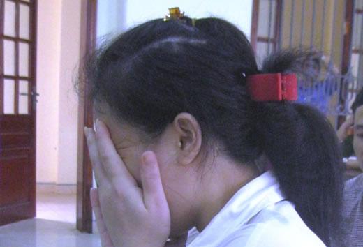 Bị cáo Nguyễn Thị Thủy tại tòa.