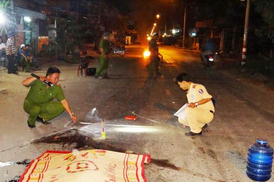 Hiện trường vụ tai nạn giaop thông do Lê Thành Phong phóng nhanh, cán chết người