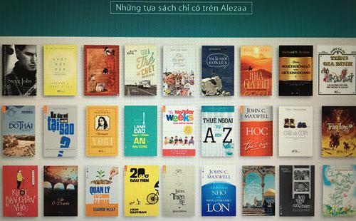 Bán sách văn học ấn bản điện tử không dễ. Trong ảnh: Quầy sách điện tử của Alezaa