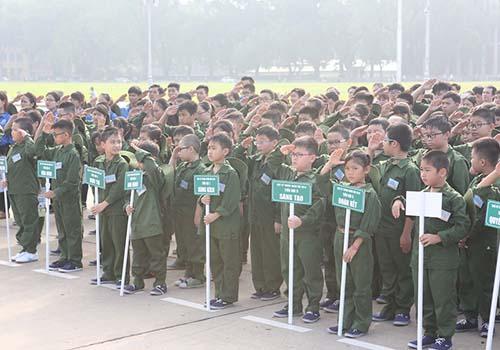 """""""Chiến sĩ nhí"""" tham dự Học kỳ trong quân đội của Viettel"""