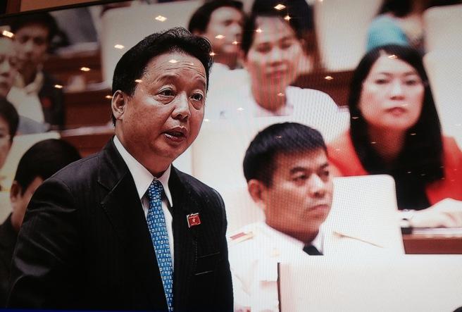 Bộ trưởng Trần Hồng Hà cho biết Formosa đã chuyển 250 triệu USD tiền bồi thường bước đầu - Ảnh chụp qua màn hình