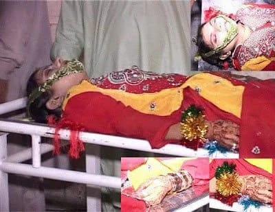 Nhà làm phim Pakistan Sharmeen Obaid Chinoy chia sẻ ảnh chụp thi thể của cô dâu Khanzadi. Ảnh: TWITTER