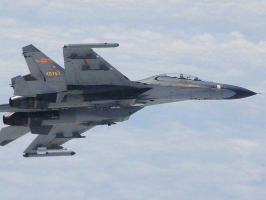 Chiếc SU-27 của Trung Quốc Ảnh: AP
