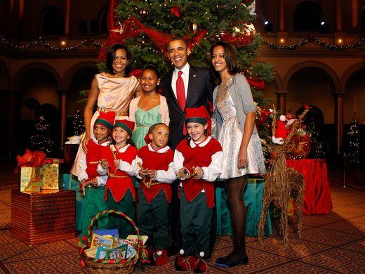Giáng sinh của gia đình năm 2012. Ảnh: Pool