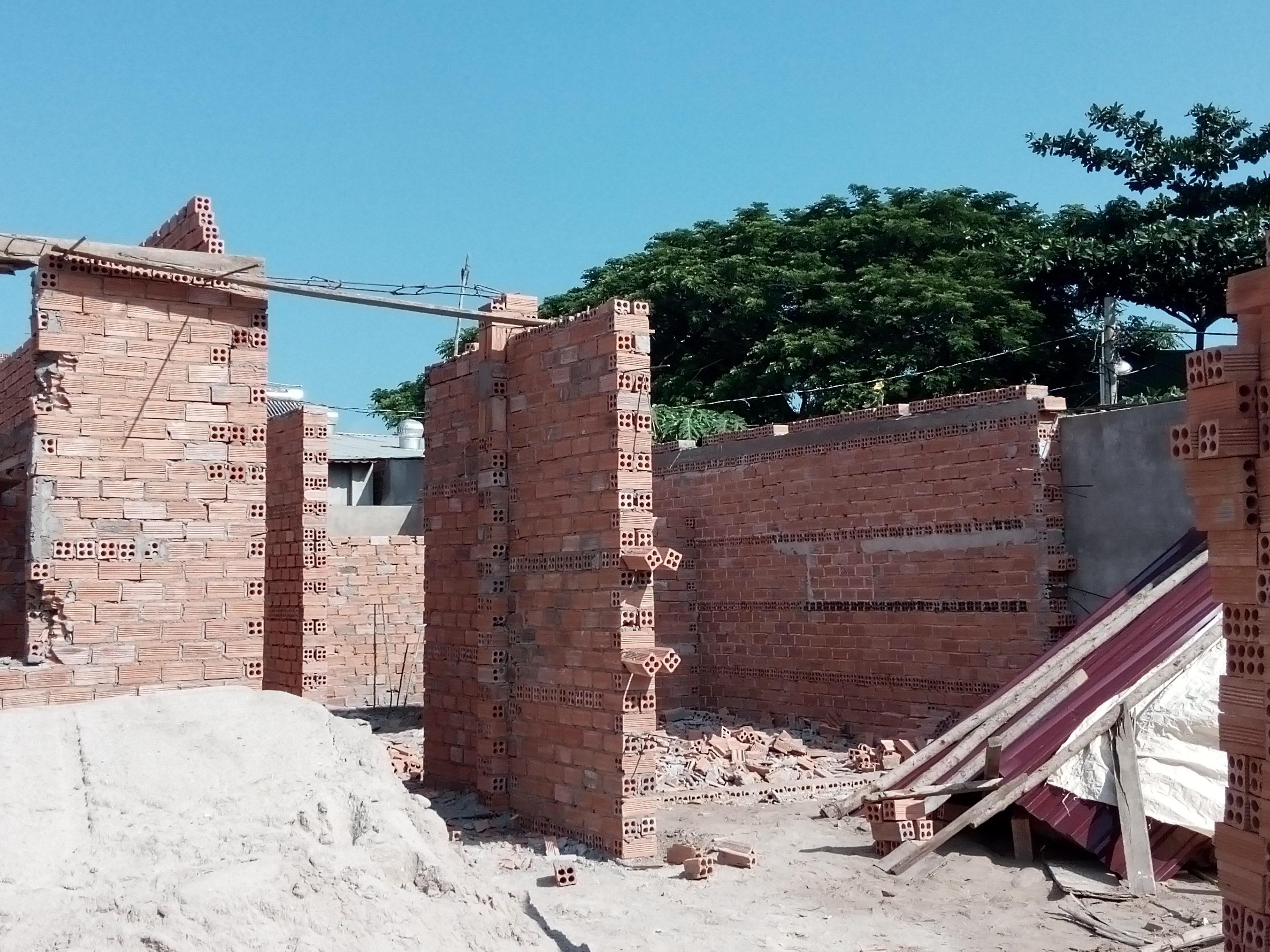 Căn nhà ông Thảo xây trái phép bị cưỡng chế