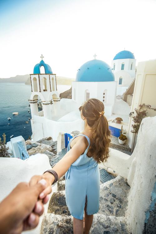 Thiên đường trên đảo Santorini - Hy Lạp.