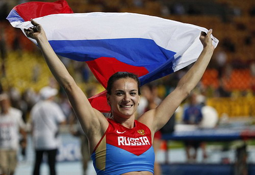 Yelena Isinbayeva mang về nhiều vinh quang cho điền kinh Nga