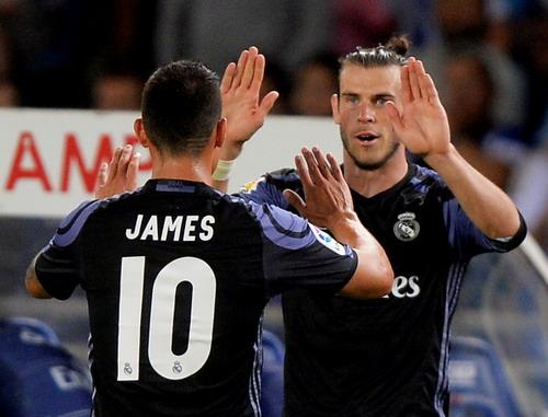 James Rodriguez chỉ được vào sân ở cuối trận, góp công vào bàn thắng thứ 3