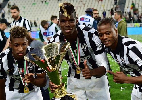 Vô địch Serie A bên cạnh hai đồng hương Pogba và Evra