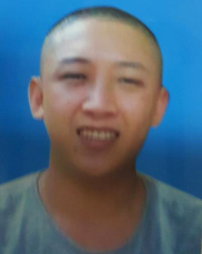 Đối tượng Nguyễn Thanh Trung tại cơ quan công an