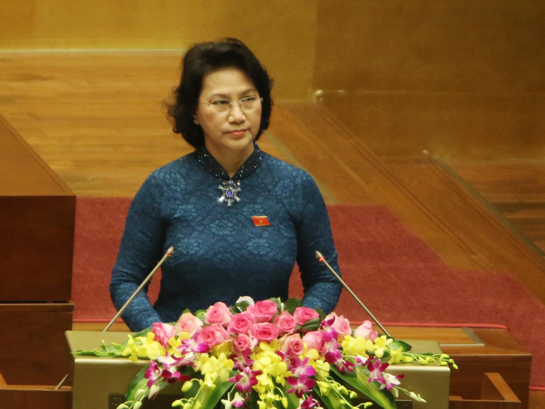 Chủ tịch QH Nguyễn Thị Kim Ngân phát biểu khai mạc kỳ họp thứ nhất, QH khóa XIV