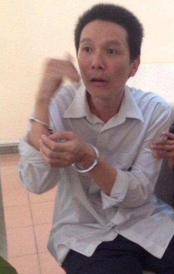 Bị cáo Lê Hữu Thuận tại phiên tòa