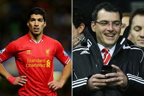 Damien Comolli có công đưa Luis Suarez về sân Anfield