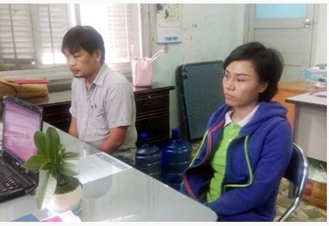 Trần Thị Thanh Ly tại cơ quan công an