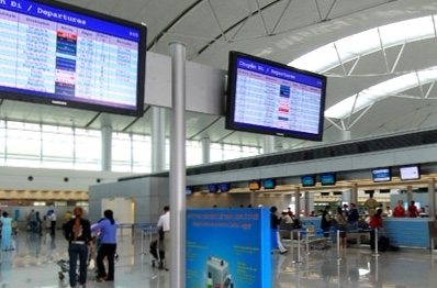 Màn hình điện tử thông báo lịch bay - ảnh tư liệu