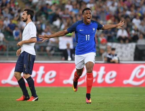 Anthony Martial mở tỉ số cho tuyển Pháp