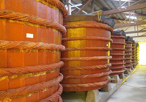 Thùng ủ chượp tại nhà thùng Masan - Phú Quốc
