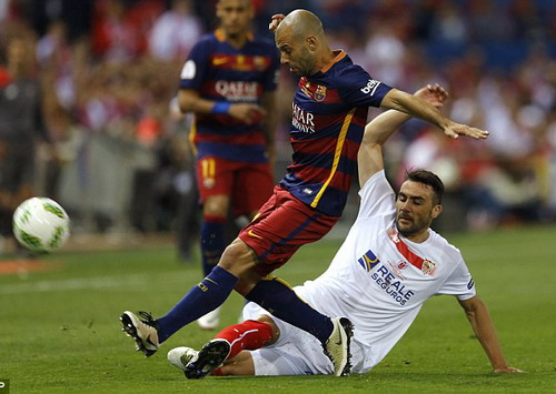 Mascherano là chốt chặn chắc chắn ở hàng thủ Barca