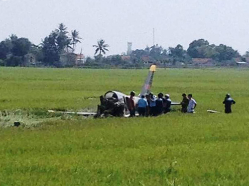 Bộ Quốc phòng xác nhận học viên phi công đã hi sinh trong buồng lái - Ảnh người dân cung cấp