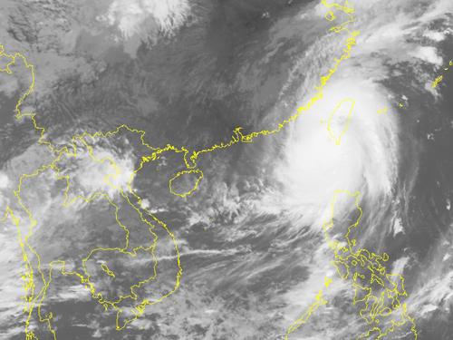 Ảnh chụp may vệ tinh siêu bão Meranti - Nguồn: Trung tâm Dự báo khí tượng thủy văn Trung ương