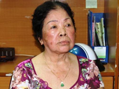 Bà Nguyễn Thị Miết lúc mới bị bắt
