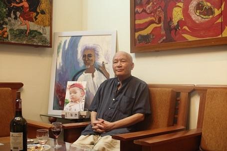 Nhà văn Nguyễn Khắc Phục khi mới phát hiện bệnh