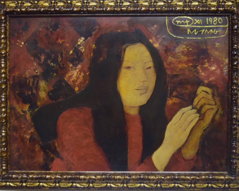 Bức Cô gái của Nguyễn Sáng tại triển lãm bị cho là tranh giả