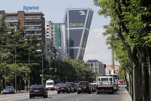 Trụ sở ngân hàng Bankia ở Madrid