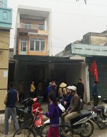 Nhà bà Văn Thị Thắng, nơi diễn ra vụ hành hung và nổ súng để giải quyết mâu thuẫn cá nhân