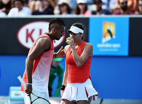 Ajla Tomljanovic và Nick Kyrgios thi đấu đôi tại giải Úc mở rộng 2016