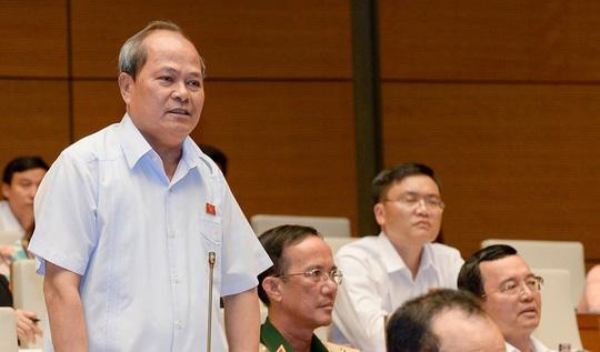 ĐBQH Ngô Văn Minh: Không chỉ một mình ông Trịnh Xuân Thanh làm được những việc tày trời như vậy - Ảnh: Nguyễn Nam