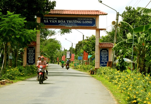 Xã văn hóa Trường Long thuộc huyện nông thôn mới Phong Điền. Ảnh: Quốc Trung