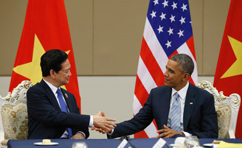 Thủ tướng Nguyễn Tấn Dũng và Tổng thống Barack Obama tại Hội nghị Cấp cao Đông Á