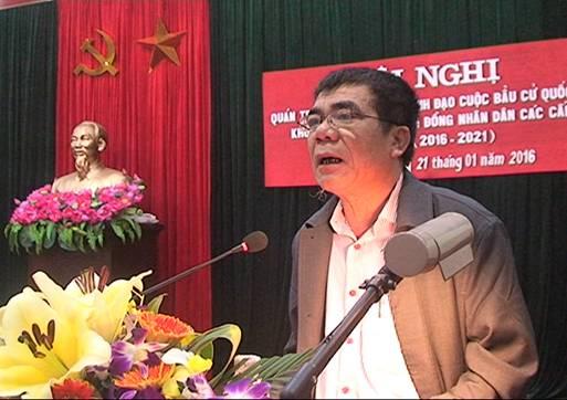 Ông Lê Văn Sang tại một hội nghị khi còn đương chức