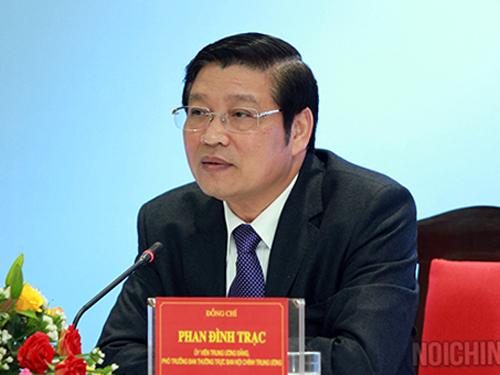 Ông Phan Đình Trạc được Bộ Chính trị bổ nhiệm làm Trường Ban Nội chính Trung ương - Ảnh: Ban Nội chính Trung ương