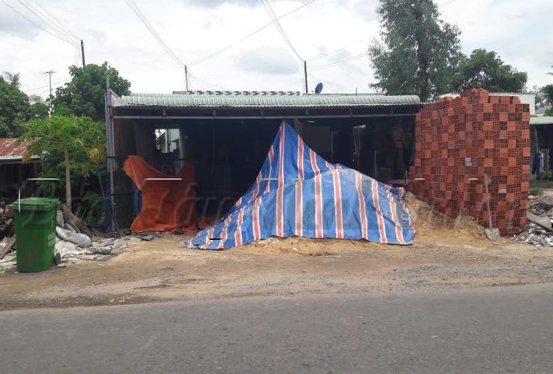 Căn nhà, nơi xảy ra vụ án mạng thương tâm.