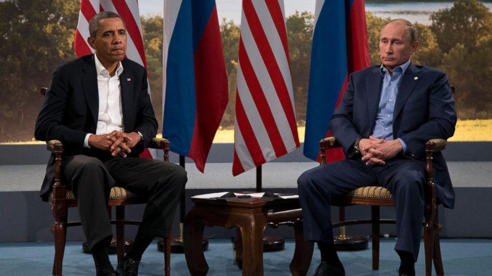 Tổng thống Mỹ Barack Obama và Tổng thống Nga Vladimir Putin dự kiến sẽ có cuộc gặp bên lề tại Thượng đỉnh G-20. Ảnh: AP