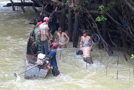 Sông Sêrêpôk đoạn chảy qua xã Krông Ana.