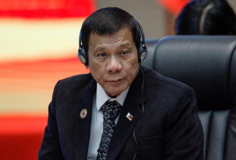 Tổng thống Duterte tại hội nghị ASEAN hôm 7-9. Ảnh: Reuters