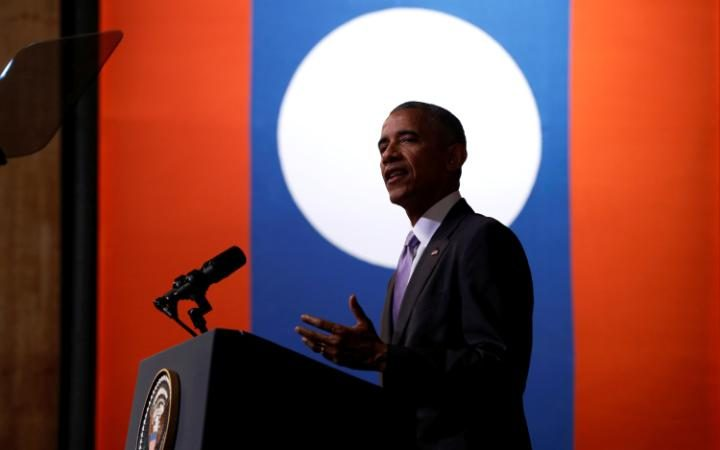 Tổng thống Obama nói rằng cử tri Mỹ sẽ chối bỏ ứng viên mất trí như ông Trump. Ảnh: Reuters