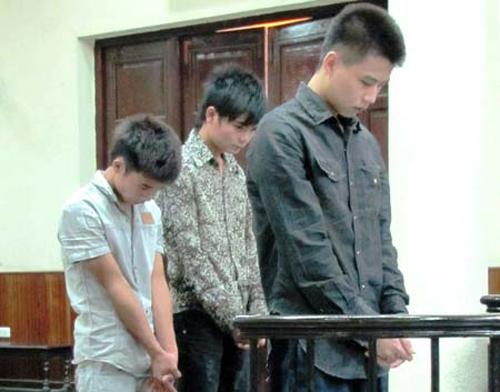Lưu Công Hoàng tại phiên xử sơ thẩm và phúc thẩm.