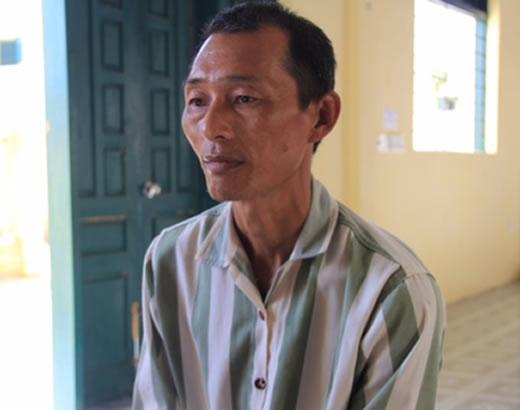 Phạm nhân A Sầu tại trại giam.